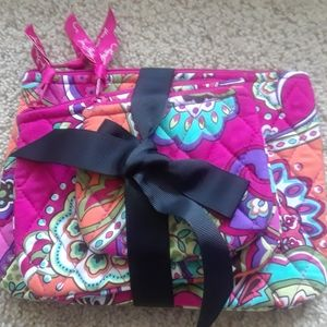 Vera bradley trio cosmetic bags.